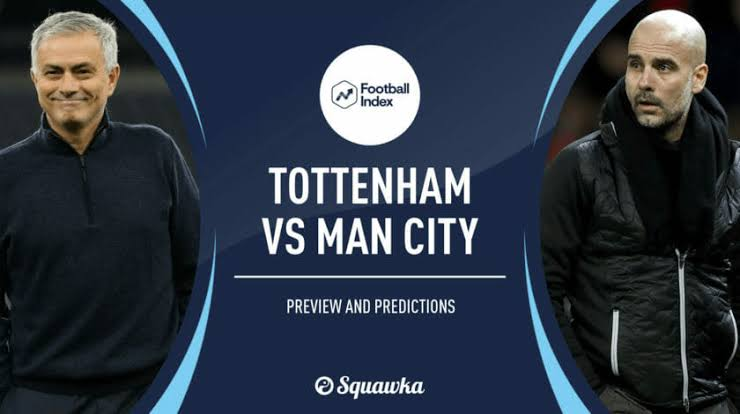 Tottenham vs Man City, Club Records H2H, Prediction and Managers Records.