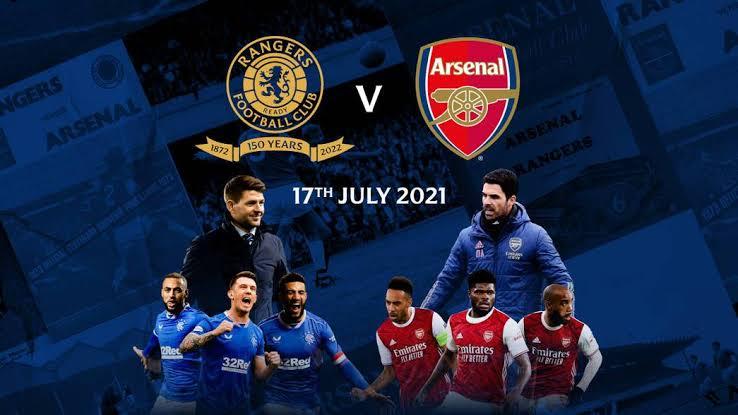 Pre-season: Where to watch Rangers vs Arsenal Friendly match Live Streaming.
