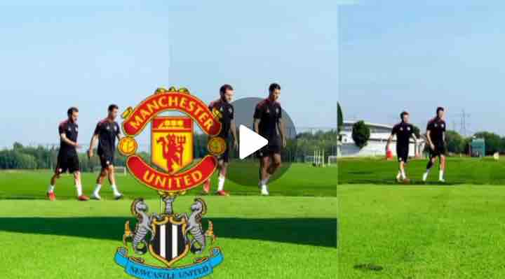 Watch Video: Check out Ronaldo Training With Solskjae's Squad As United Prepared For Newcastle Clash