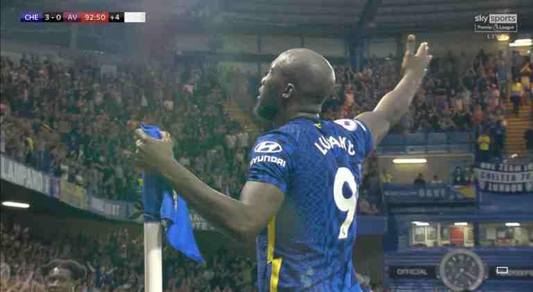Watch Video: Romelu Lukaku Sensational Goals Against Aston Villa #CHEAVL